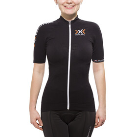 X-Bionic The Trick Biking Shirt SS Full Zip Women Black/White